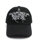 아임낫어휴먼비잉(I AM NOT A HUMAN BEING) [17SS] But People Love Me Ball Cap - Black