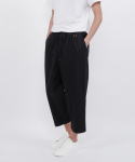 washed cotton nomad string pants(black)