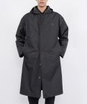 monk hoodie raincoat(black)