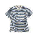 에스티디 스탠다드(STD STANDARD) STRIPE POCKET T-SHIRT : BLUE