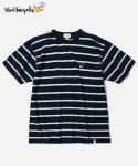 COVERNAT X MARK GONZALES S/S STRIPE T-SHIRTS NAVY