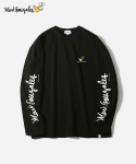 커버낫(COVERNAT) COVERNAT X MARK GONZALES L/S SLEEVE LOGO T-SHIRTS BLACK