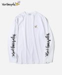 커버낫(COVERNAT) COVERNAT X MARK GONZALES L/S SLEEVE LOGO T-SHIRTS WHITE