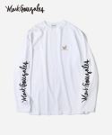 COVERNAT X MARK GONZALES L/S SLEEVE LOGO T-SHIRTS WHITE