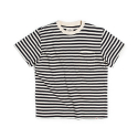에스티디 스탠다드(STD STANDARD) STRIPE POCKET T-SHIRT : NAVY