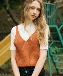 몬츠(MONTS) monts337 metallic knit orange bustier (3color)