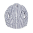 STRIPE CHINA-COLLAR SHIRT : WHITE