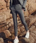 MANNISH STRIPE SUIT PANTS_GRAY