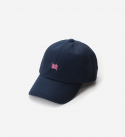 브라운브레스(BROWNBREATH) TAGGING CURVED CAP - NAVY