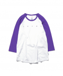 디스이즈네버댓(thisisneverthat) W Baseball Tee White/Purple