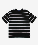레이어 유니온(LAYER UNION) DOUBLE STRIPE S/S TEE BLACK