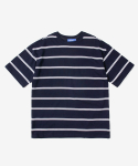 레이어 유니온(LAYER UNION) DOUBLE STRIPE S/S TEE NAVY