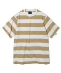 유니폼브릿지(UNIFORM BRIDGE) 17ss 10s heavyweight stripe tee beige