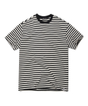 헤비스모커(HEAVYSMOKER) Color Stripe Half T-shirt (Black)
