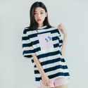 모티브스트릿(MOTIVESTREET) MILK SST STRIPE NAVY