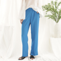 어나더에이(ANOTHER A) Vivid slit pants (blue)