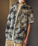 필루미네이트() UNISEX Aloha Cool Shirt-Black