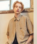 필루미네이트(FILLUMINATE) UNISEX Cool Linen Shirt-Beige