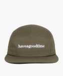 해브 어 굿 타임(HAVE A GOOD TIME) Side Logo Camp Cap - Olive