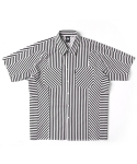 어반스터프() USF BIAS STRIPE HALF SHIRTS BLACK