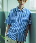 어반스터프() USF BIAS STRIPE HALF SHIRTS BLUE