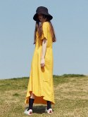 17hot summer belted long one-piece(yellow)