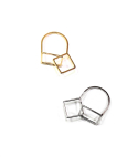 어거스트 하모니(August Harmony) Double square ring (2color)