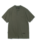 유니폼브릿지(UNIFORM BRIDGE) 17ss 10s heavyweight henley neck tee khaki