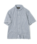유니폼브릿지(UNIFORM BRIDGE) stripe short sleeve shirts navy