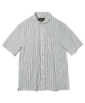 유니폼브릿지(UNIFORM BRIDGE) stripe short sleeve shirts lovat