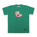 STV. RECORD PIZZA TEE GREEN