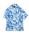 유니폼브릿지(UNIFORM BRIDGE) hawaiian short sleeve shirts blue