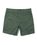 5inch cotton short pants forest