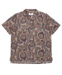 프레리() [UNISEX]PAISLEY TAILORED COLLAR 1/2 SHIRT (Beige)