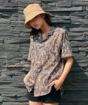 프레리() [무신사 단독세일][UNISEX] PAISLEY TAILORED COLLAR 1/2 SHIRT (Beige)