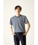 CALCAR EMBROIDERY STRIPE TSHIRTS