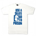쓰레셔(THRASHER) Use A Skate Go To Prison Tee - White