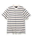 유니폼브릿지(UNIFORM BRIDGE) 10s heavyweight vintage stripe tee ivory