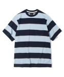 유니폼브릿지() 10s heavyweight wide stripe tee blue