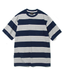 유니폼브릿지(UNIFORM BRIDGE) 10s heavyweight wide stripe tee navy