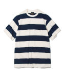 유니폼브릿지(UNIFORM BRIDGE) 10s heavyweight wide stripe tee ivory