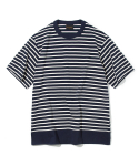 유니폼브릿지(UNIFORM BRIDGE) brick stripe crew neck tee navy