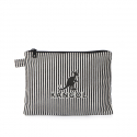 캉골(KANGOL) Eco Clutch Bag Juno 5013 PINSTRIPE BLACK