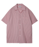 모디파이드() M#1297 stripe hawaiian shirt (pink)