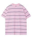 모디파이드() M#1286 multi color stripe tee (pink)