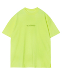모디파이드() M#1294 neon typography tee (yellow)