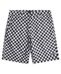 모디파이드() M#1299 reflective checker board shorts (white)