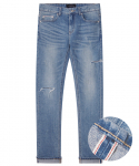 모디파이드() M#1283 cutted selvedge washed jeans