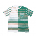 홀리선(HORLISUN) Fairview Pocket Stripe T-shirts Green