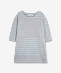 퍼스트플로어(FIRSTFLOOR) STRIPE (2 colors_semi-oversized & drop shoulder)